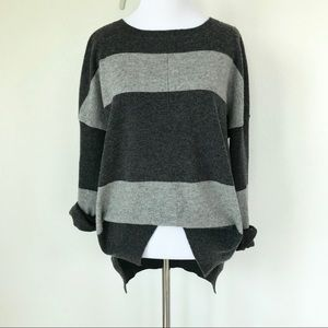 Philosophy Cashmere Gray Striped Sweater